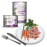 MjAMjAM - Premium Nassfutter für Hunde - schmackhafter Truthahn an leckeren Möhrchen, 6er Pack (6 x 400 g), getreidefrei mit extra viel Fleisch