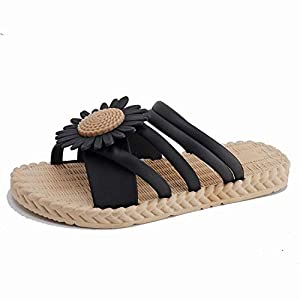 Artificial and Dried Flower Beach Slippers Ladies Summer Daisy Superselling Slippers