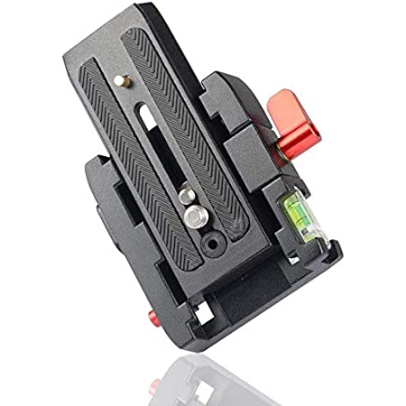 """HIFFIN® Universal Quick Release Camera Adapter Mount System with Slide Plate with 1/4"""" and 3/8"""" Screws for Benro, Manfrotto & Other Professional Tripods (Quick Release Plate)"""