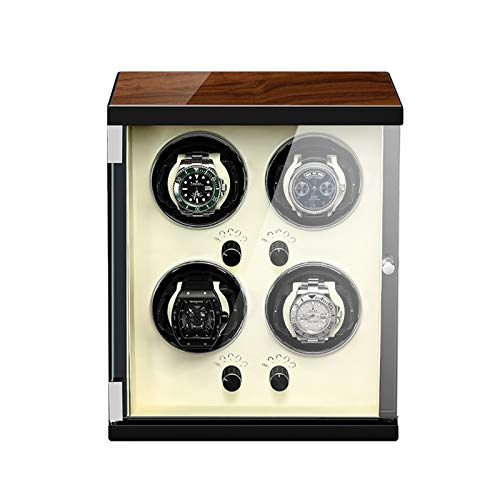 Jlxl Caja Enrolladora Automática 4 Configuraciones Controladas Independientemente Motor Silencioso Almohada Reloj Ajustable para La Mayoría Los Relojes Accesorios (Color : White)