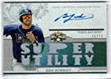 2014 Topps Triple Threads Relic Autographs #TTARBZ3 Ben Zobrist Autograph Game Jersey Card Serial #16/18 - Tampa Bay Rays