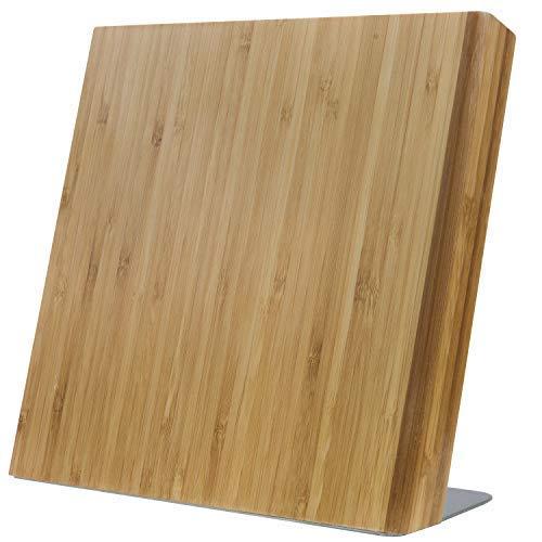 Coninx Messerblock Magnetisch Holz Quin - Messerhalter Magnetisch Bambus - Messerblock ohne Messer - Messerbrett Magnetisch Unbestückt für eine Aufgeräumte Küche