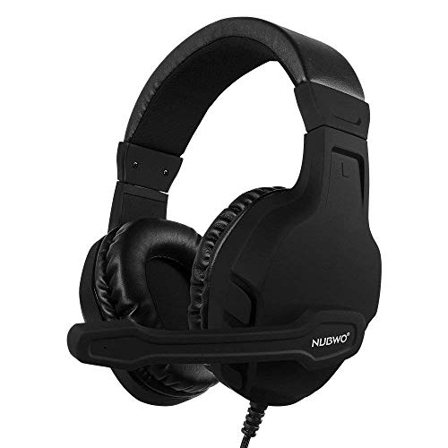 NUBWO U3 3.5mm Gaming Headset for PC, PS4, PS5, Laptop, Xbox One, Mac, iPad, Nintendo Switch Games, Computer Game Gamer Over Ear Flexible Microphone Volume Control with Mic - Black