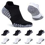 BUTTBILL Calcetines Negro Blanco Tobilleros Mujer 39-42 Cortos Deportivos Calcetines Hombre Algodon Transpirables 8 Pares