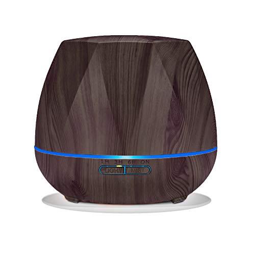 Humidificador #901 Difusor Aromaterapia Ultrasónico LED Temporizador, Difusor de Aroma Amplia Capacidad Silencioso Sistema Programable Desconexión Automática Anti-Humedad 7 LED...