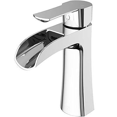 VIGO VG01041 Paloma Solid Brass Single Hole Bathroom Sink Faucet, Premium 7-Layer Plated Matte Black Finish