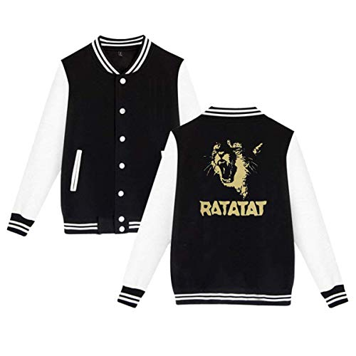 Unisex Ratatat Wildcat Women Men Baseball Uniform Jacket Sport Coat Sweatshirt Outwear Black,Small