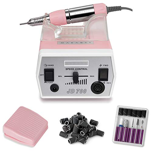 Makartt Efile Nail Drill Professional, JD700 Nail File Machine 30000RPM Professional Salon Nail Drill for Acrylic Nails Poly Nail Extension Gel