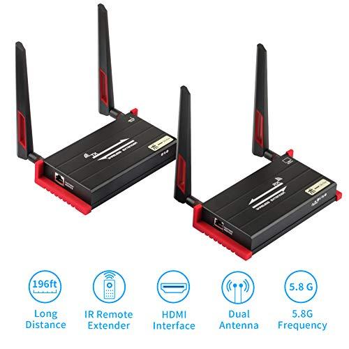 HDMI Extender Wireless TV Anywhere Ricevitore trasmettitore HD - Extender HDMI - Wireless HDMI - Full HD - Copertura in tutta la casa - Loopthrough - APP - Guarda la TV in un altro posto senza cavi