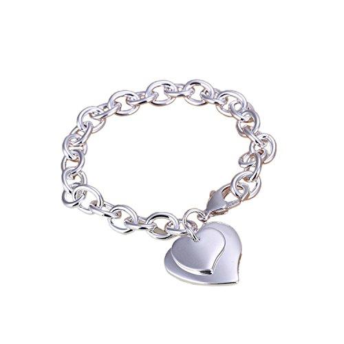 ESYN Catena argento 925 donne braccialetto placcato mano Charm