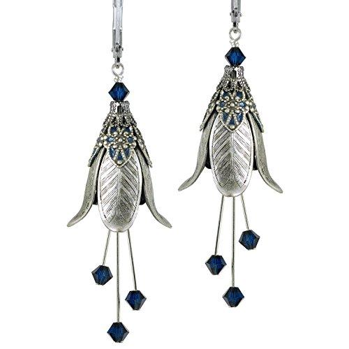 'Warlock's Mistress' Dangle Silver Earrings for Women By No Monet