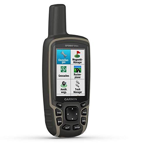 """Garmin GPSMAP 64sx - robustes, wasserdichtes GPS-Outdoor-Navi mit 2,6"""" Farbdisplay, 3-Achsen-Kompass, Barometer, ANT+ und Bluetooth, GLONASS, GALILEO, vorinstallierter Basiskarte und 16 h Akku"""