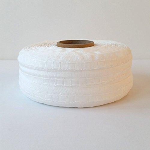 Bleistiftfaltenband, 25mm breit, Gardinenband, verschiedene Längen zur Auswahl, Textil, weiß, 01 Metre