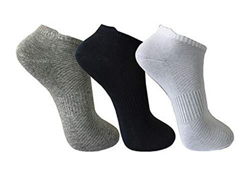 BestSale247 12 Paar Herren Sneaker Socken Füßlinge Kurzsocken Baumwolle (Schwarz Weiß Grau, 43/46)