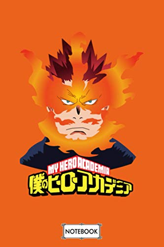 My Hero Academia Endeavor Notebook: Matte Finish Cover, Lined College Ruled Paper, Planner, Diary, Journal, 6x9 120 Pages