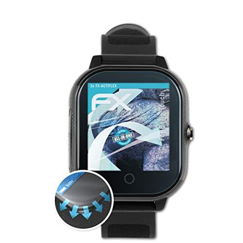 atFoliX Schutzfolie kompatibel mit Belio Touch Folie, ultraklare und Flexible FX Displayschutzfolie (3X)