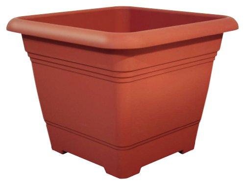 geli Thermo Plastic Pflanzkübel NORA quadratisch aus Kunststoff, Farbe:terracotta;Größe:48 x 48 cm