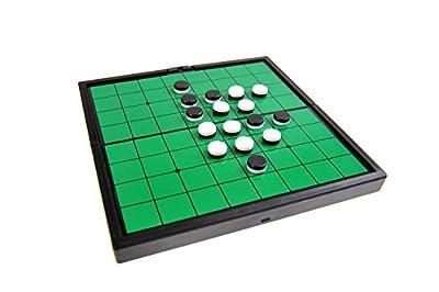 Quantum Abacus Jeu de société magnétique (Version Super Mini de Voyage): Reversi - pions magnétiques, Tablier Pliant, 12,8cm x 12,8cm x 1cm, Mod. SC3654 (DE)