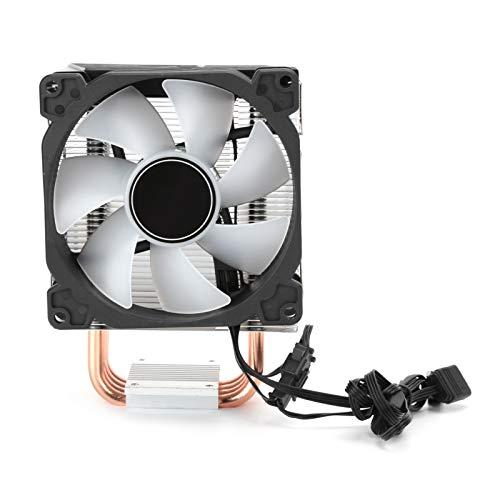 Ventiladores de refrigeración de CPU, interfaz de ventilador PWM de 4 pines, voltaje de entrada de 12 V, ventiladores de enfriamiento de disipación de calor suaves y duraderos para computadora