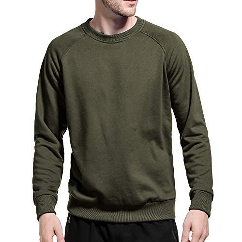 LBL Herren Sweatshirt Pullover, Arbeitspullover, Freizeithemd Armee-grün