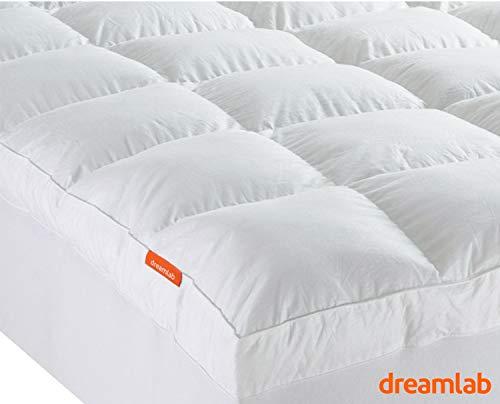 Dreamlab Cubre Colchón de Algodón con Extra Relleno de microfibras recubiertas en Gel. (Tamaño…