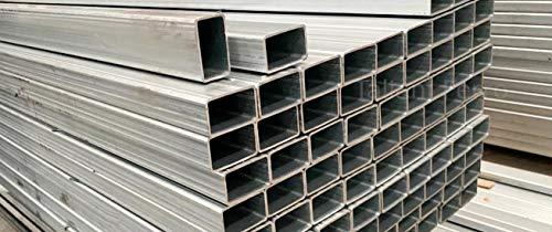 Tubo rectangular de hierro galvanizado, sección 30 x 15 x 1,5 mm. Longitud 3 metros Taliani Ferro