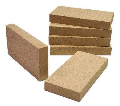 Set mit 4 Kaminen, Pizzaofen, Grill, Ofen, Premium-Vermiculit-Feuerziegel, 230 mm x 114 mm x 25 mm, für Villager-Öfen