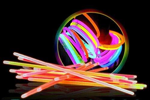 glw 8 Braccialetti Luminosi x Feste e Party Colori Tutti 8 Uguali