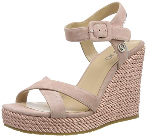 Liu Jo Shoes Lucy 05-Sandal Kid Suede Punta Aperta Donna, Rosa (Pink 00006), 38 EU