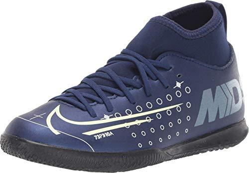 Nike Jr. Mercurial Superfly 7 Club MDS IC Little/Big Kids' Indoor/Court Soccer Shoe (4.5Y) Blue