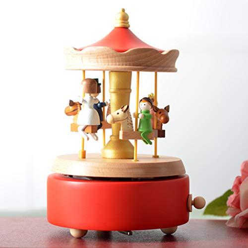 Chonor Scenari Innovativo Carillon Di Legno, Premium Creativo Mano Manovella Artigianato In Legno Scatola Di Musica Migliore Regalo E Decorazioni Idea Per Il Compleanno, Natale - Famiglia Giostra