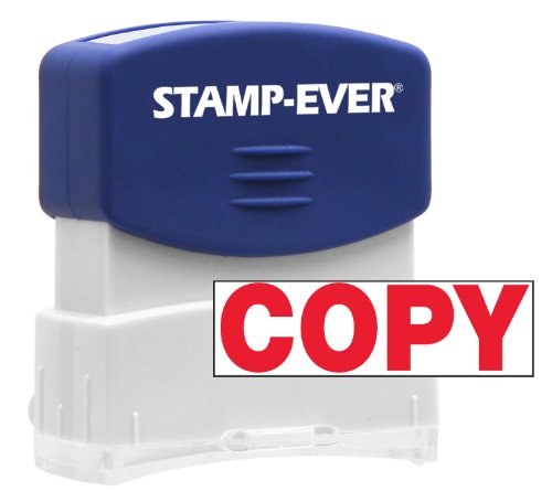 Stamp-Ever Pre-Inked Message Stamp, Copy, Stamp Impression Size: 9/16 x 1-11/16 Inches, Red (5946) Photo #4