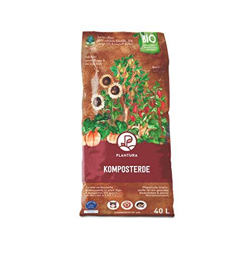 Plantura Bio Komposterde, 40 L, torffrei & klimafreundlich, auch als Hochbeeterde