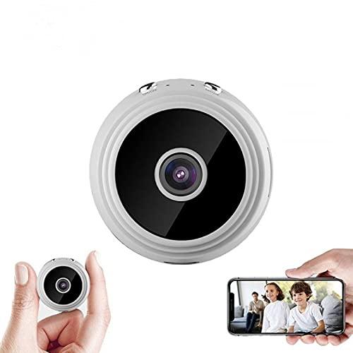 Cámara Oculta Espía HD 1080p - Mini cámara WiFi para Ver en el móvil (Color Blanco) - Vigilancia camuflada Manual Ingles/Español