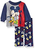 Disney Boys' Infant Mickey Mouse 2-Piece Pajama Set, True PALS, 18M