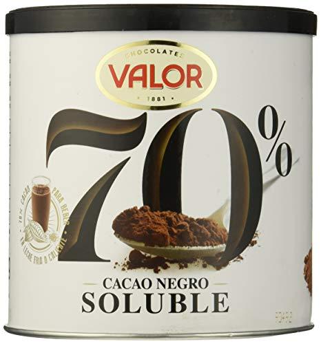 Valor Cacao Soluble Negro 70{94ea62ec4c02d8254991332be50195116706d337f79ebfae208b9d12c3530869}, 6 de 300 g (Total 1800 g)