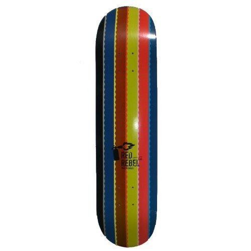 Red Rebel Skateboard Deck Rainbow 7.625 inch - Profi Skateboard Deck - Made in USA