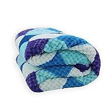 Acomoda Textil - Manta Sedalina Multicolor 130x160 cm. Manta Polar Borreguito Extra Suave y Cálida para Sofá, Sillón y Viaje.