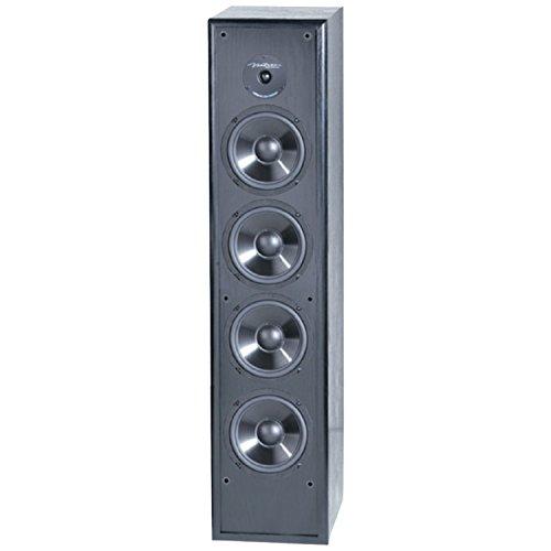 bic floor standing speakers BIC America Venturi DV84 2-Way Tower Speaker, Black (Single)