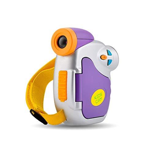 Videocamera Digitale, CamKing Fotocamera Digitale Portatile per Bambini 1080P Full HD 5 MP 4X 1,5 Pollici Screen Cartoon Videoregistratore con Zoom Digitale Con Fash
