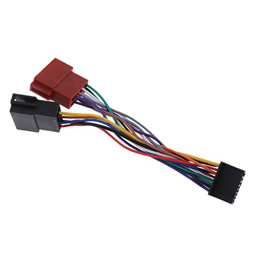 PETSOLA per Pioneer 2015 16Pin Car ISO Wiring Loom Harness Cable Wire Wire