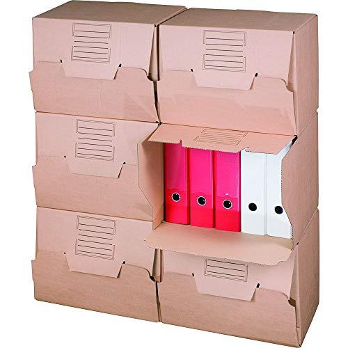 karton-billiger Archivbox für Ordner mit Frontklappe für bis zu 5 Ordner 10 Stück