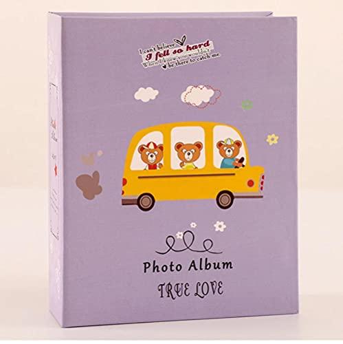 Coche 5 pulgadas 100 páginas Imagen Álbum de fotos Álbum de recortes Caja de almacenamiento de imágenes Imagen Amigos Ahorrando memoria Recuerdo 20,5 * 16,2 cm-2