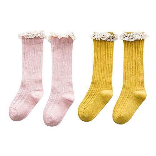 Waroomss Baby Kinder Söckchen Atmungsaktives Mesh Socken Stretch Lace Soft Sweet Bequem Für 1-8 Jahre Alt Frühling Sommer Herbst