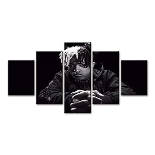 FJNS 5 Stücke HD Drucke Rap Singer Xxxtentacion Pop Musik Promi Kunstdruck Gemälde Modulare Bilder Wandkunst Poster Gerahmt,B,40x60x240x80x240x100x1