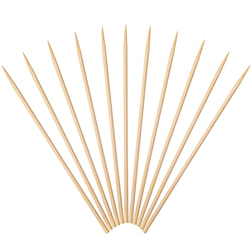 Minisland Premium 6 inch Bamboo Skewers for Appetizers Fruit Kabobs 3mm Thin Small Short Food Sticks 100 Counts -MSL164