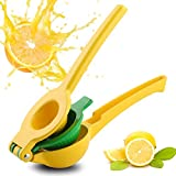 Manual Juicer Lemon Lime Squeezer,Manual Citrus Juicers,Metal Manual Juicer Hand Press Squeezer Juicer Extractor(2-in-1)