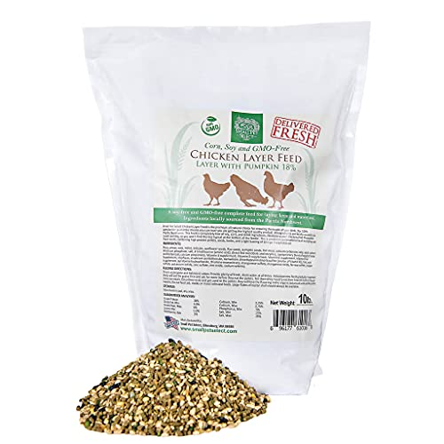 Small Pet Select Chicken Layer Feed, Non-GMO, Corn Free, Soy Free, 18% Protein,10 lb