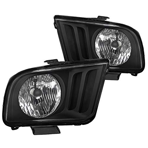 Spec-D Tuning Euro Style Oem Headlights Black for 2002-2009 Ford Mustang Head Light Assembly Left + Right Pair
