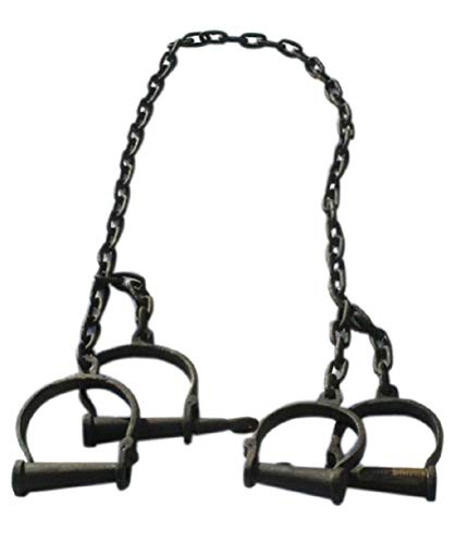 Collectible Badges Iron Georgetown County Plantation Leg Irons Handcuffs Costume Prop